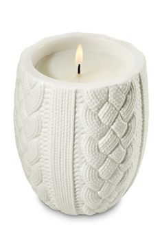 Leaves Sweater Weather Cable Knit Candle - Slatkin & Co. - Bath & Body Works