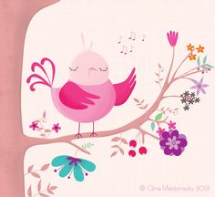 Singing bird by Gina Maldonado