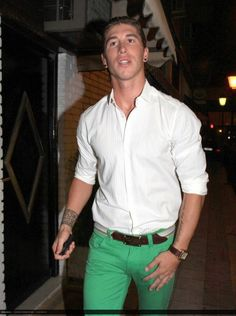 """...because how could we have a """"Sergio Ramos"""" album and *not* include his infamous green jeans?!"""