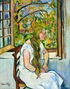 スュザンヌ・ヴァラドンSuzanne Valadon「窓辺のジェルメーヌ・ユッテル」(1926)