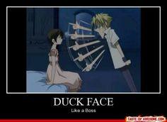 He really does look like a duck though [Tamaki Suoh, Haruhi Fujioka] ~ Ouran High School Host Club