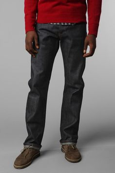 Unbranded Slim Straight Selvedge Jean - Urban Outfitters