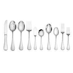 The graceful curves and classic style of Wallace's charming Hadley Flatware Collection will make a simple yet stunning statement on your table. This beautiful, 18/0 stainless steel has a bright, mirror finish and is dishwasher safe.