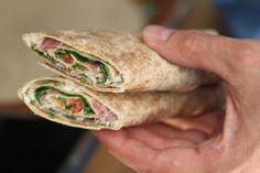 Sunde wraps med flødeost, rucola og skinke