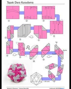 24 ideas for origami modular ball Origami Usa, Origami Ball, Origami Folding, Paper Crafts Origami, Origami Ideas, Oragami, Origami Instructions, Origami Tutorial, Origami Techniques