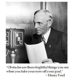 Henry Ford on Obstacles