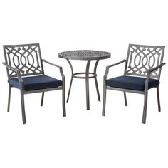 Target - $160 - Cute except that I don't think the cushions will work - Threshold™ Harper 3-Piece Metal Patio Bistro Set
