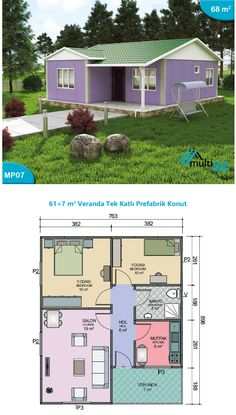 - + 2 Bedrooms, 1 Bathroom, Korg y 6 e Korg e ha ya Korge Korg y Las y cine, Veranda Bedroom 1 - Bedroom 2 - Kitchen Lounge Bathroom Veranda Mini House Plans, Simple House Plans, House Layout Plans, Simple House Design, Dream Home Design, Tiny House Design, House Layouts, House Floor Plans, 4 Bedroom House Designs
