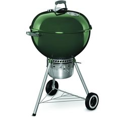 The original Weber Premium Kettle 22 Inch Charcoal Grill in an all new sassy green color! You can't go wrong with the classics.
