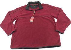 Izod PerformX PFX 1/2 Zip Fleece Pullover Mens Size XLT Tall Burgundy New w/ Tag #IZOD #12Zip