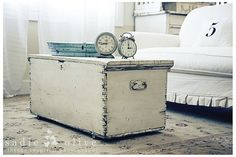 Hope Chest Coffee Table - love this! A Lane chest and Annie Sloan Chalk Paint in Pure White would make this a reality!