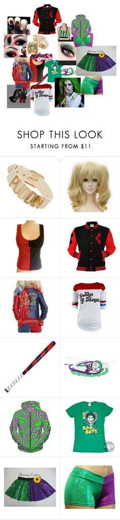 """""""Harley Quinn and The Joker"""" by meganmmg ❤ liked on Polyvore featuring Hot Topic and DC Comics"""