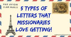 "As a missionary a good letter will boost your spirits, and encourage you to keep going when it is hard. As I was writing the article ""5 things to not write you missionaries about""  I st…"