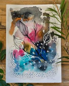 UPDATE - Paintings are all now SOLD 🎉😘 Four new inky creations available via my website including yesterday's inky garden! Swipe to view. Abstract Watercolor Art, Watercolor And Ink, Watercolor Paintings, Abstract Paintings, Art Paintings, Illustration Inspiration, Art Journal Inspiration, Illustration Blume, Mixed Media Painting