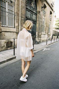 sheer white over shorts for summer | ban.do