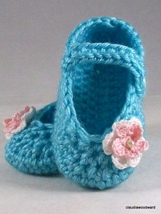 Crocheted Mary Jane Baby Shoe PATTERN PDF by granof12 on Etsy, $3.99