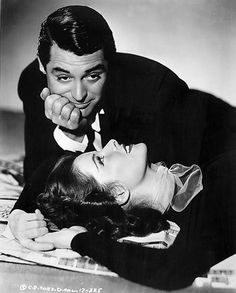Cary Grant and Katharine Hepburn in Holiday, 1938. I love their hands.