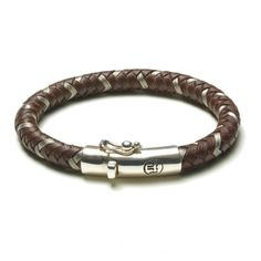 Rebel and Rose Absolutely Leather Metal Earth Armband RR-L0003-S € 79,50