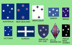 flags with southern cross symbols