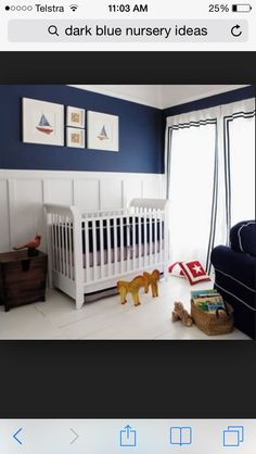 Custom Nursery Art by Kimberly: Top Baby Boy Nursery Designs of 2011 kids-rooms Baby Boy Rooms, Baby Boy Nurseries, Baby Boys, Kids Rooms, Sailboat Nursery, Nautical Nursery, Navy Nursery, Nautical Baby, Nautical Theme