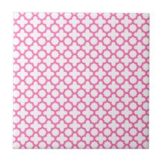 [for on top of half wall by shower] Pink Tiles, Pink Ceramic Tiles, Pink Decorative Tiles