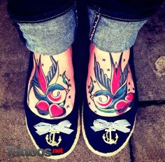 swallows tattoos @Lauren Davison Kerschner  I CANT BELIEVE HOW MUCH I LIKE THIS