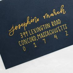 Modern calligraphy envelope addressing for weddings, birthday parties, baby showers, bridal showers and more. Envelope Lettering, Calligraphy Envelope, Envelope Art, Envelope Design, Calligraphy Letters, Brush Lettering, Modern Calligraphy, Lettering Design, Lettering Ideas