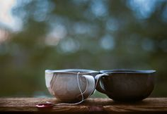 misc. hand thrown pottery coffee and tea cups
