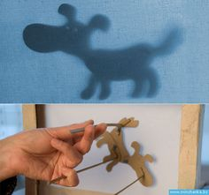 Cardboard shadowbox and puppets DIY #tutorial