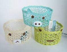 crochet lace basket - Google'da Ara