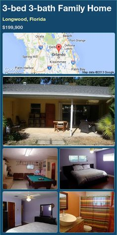 3-bed 3-bath Family Home in Longwood, Florida ►$199,900 #PropertyForSale #RealEstate #Florida http://florida-magic.com/properties/84757-family-home-for-sale-in-longwood-florida-with-3-bedroom-3-bathroom