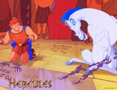 Hercules. I never noticed that the squares behind him are signed by Aphrodite and Zeus.