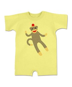 Look at this Banana Sock Monkey Romper - Infant on #zulily today!