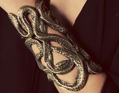 YES DO WANT RIGHT NOW - knotted snakes gauntlet cuff
