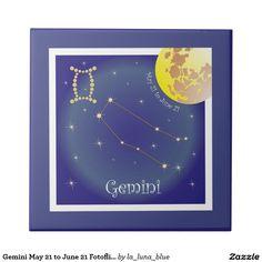 Gemini May 21 to June 21 Fotofliese Kleine Quadratische Fliese