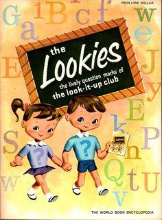 Vintage 1960 The Lookies Kids Book World Book Workbook by CapricornOneEphemera, $6.00