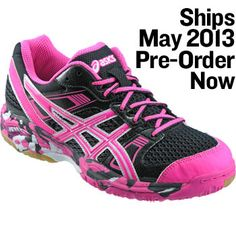 BLACK/HOT PINK/WHITE ASICS Womens Gel-1140V Hot Pink Volleyball Shoe at Volleyball.com