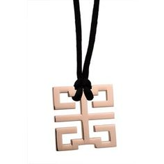 Necklace Cartier Cutwork Geometrical Pattern Rose-Gold Black St 4582