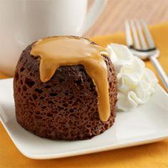 Chocolate Peanut Butter Mug Cakes