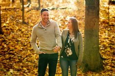 Fall autumn colours engagement session.