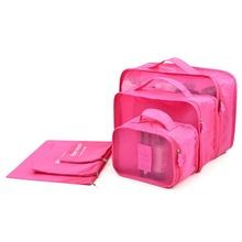 HOT 6pcs/set Travel Organizer Storage Bag Box Tidy Luggage Suitcase Pouch Zip  Women Handbag Bra Cosmetics Underwear Organizer(China (Mainland))