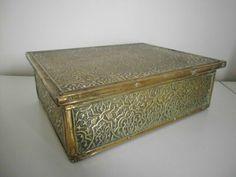 Large Art, Art Nouveau, Decorative Boxes, Brass, Antiques, Home Decor, Antiquities, Antique, Decoration Home