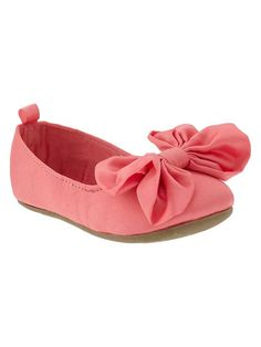 Gap | Satin bow ballet flats! Love these for toddler girlies!