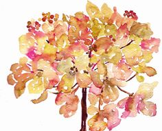Rustic Hydrangea Print from Watercolor 8x10 by pineapplebaystudio, $19.00