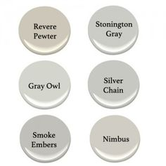 perfect gray paint, Benjamin Moore gray paint, Stonington Gray, Gray Owl, Revere Pewter, Nimbus, Smoke Embers, Silver Chain