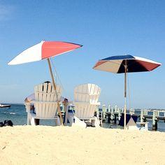 Beach chairs at Chappy Beach Club Cape Cod Vacation, Marco Island, Martha's Vineyard, Beach Chairs, Beach Club, Patio, Spaces, Couples, Instagram Posts