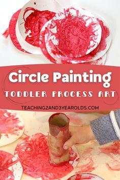 Preschool Learning, Toddler Preschool, Teaching Art, Toddler Activities, Circle Painting, Crafts For Kids, Arts And Crafts, Circle Art, Toddler Art