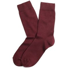 Brooks Brothers Crew Socks ($17) ❤ liked on Polyvore featuring intimates, hosiery, socks, accessories, fillers, shoes, wine, crew length socks, brooks brothers and crew socks