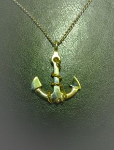 Silver Anchor with gold rope