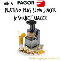 #Win a Fagor America Platino Plus Slow #Juicer & Sorbet Maker!!
